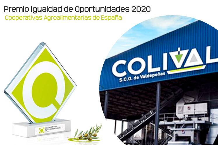 Colival recoge el premio Igualdad de Oportunidades 2020 Cooperativas Agroalimentarias de España